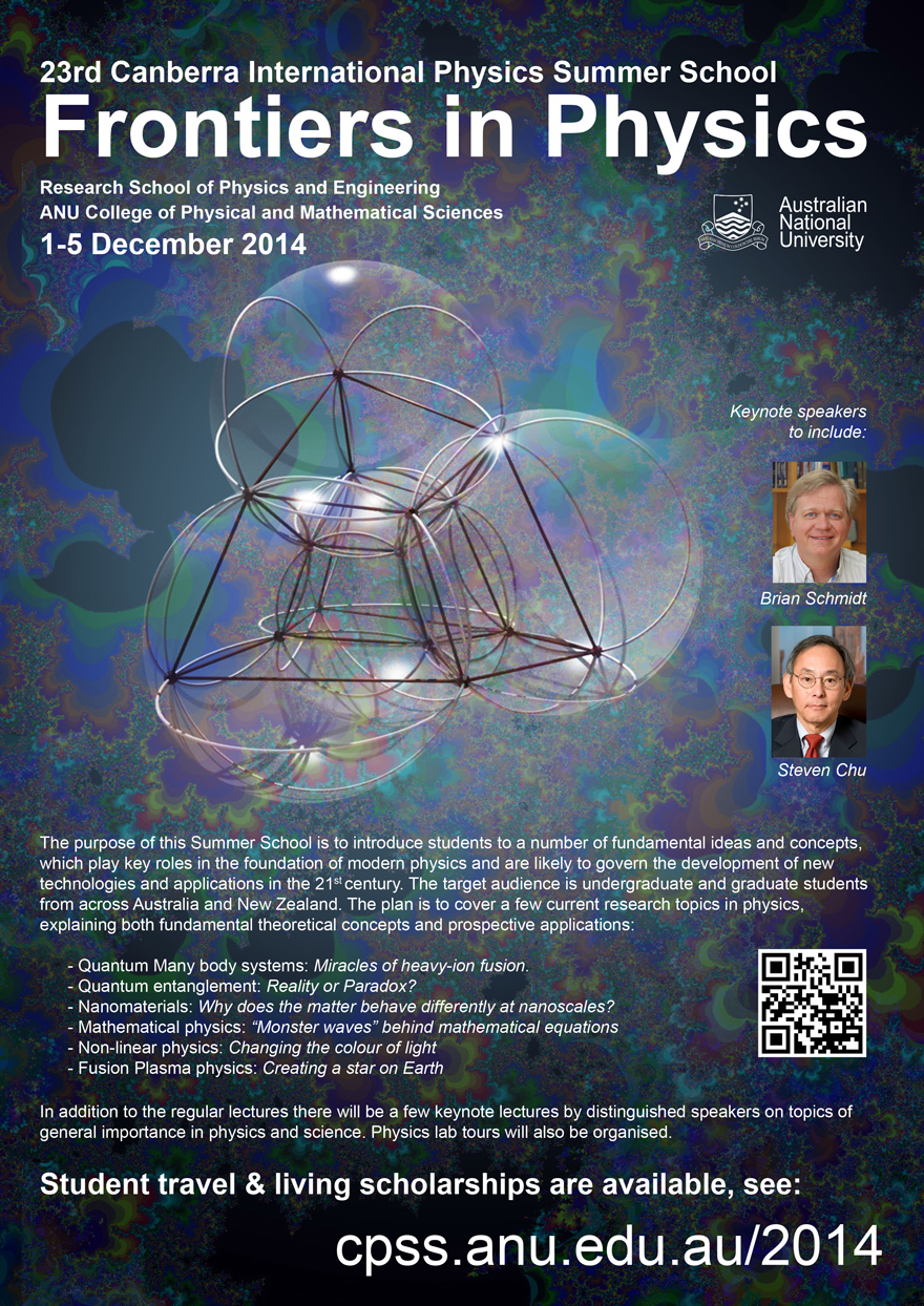 23rd Summer School Frontiers in Physics